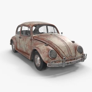 3D volkswagen fusca model