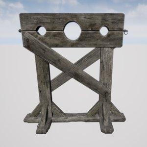 3D torture stocks model