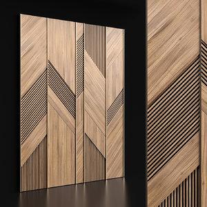 panels designed 3D model