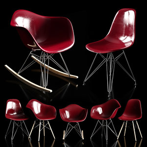 3D model chairs eames