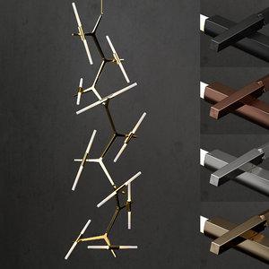 vertical chandelier lighting 3D model