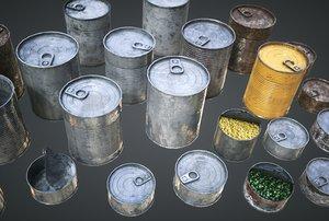 cans pack 3D model