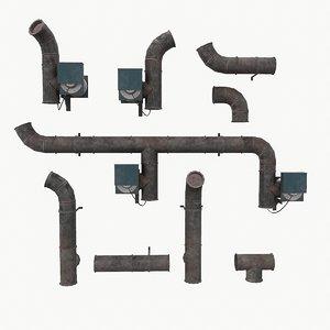 ventilation old 3D model