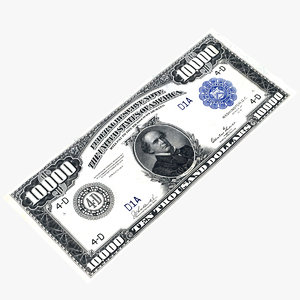 $10000 dollar bill 3D