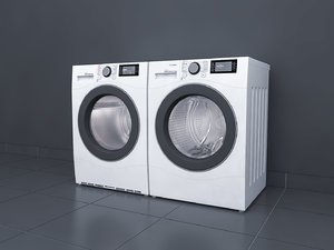 washer dryer 3D model