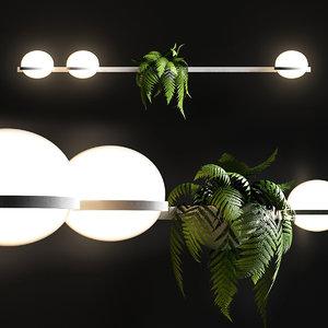 3D lamp palma 3706