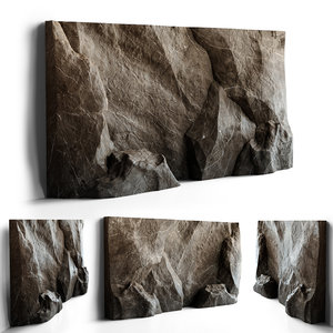decorative stone wall 3D model