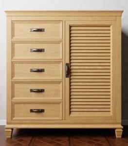 3D model drawer chest