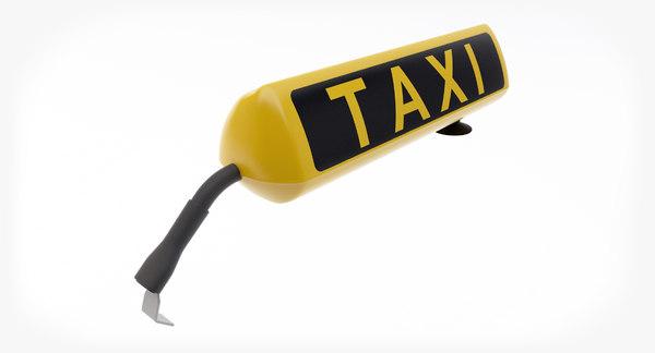 taxi sign 3D model