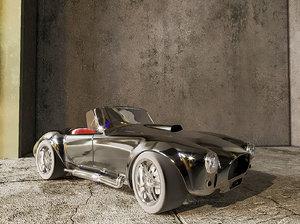 retro car cobra 3D model