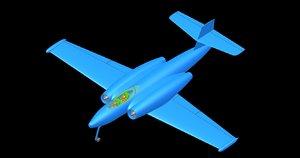 3D canada avro cf-100 aircraft model