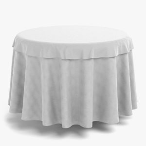 3D model table cloth tablecloth