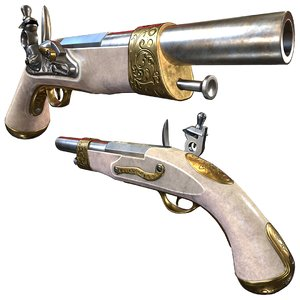 decorative flintlock pistol 3D model