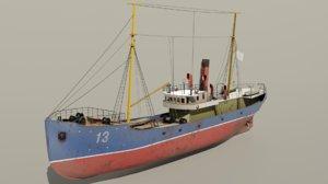 fishing trawler 3D