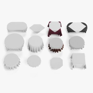 tableclothes set 3D