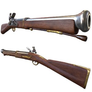 3D decorative blunderbuss