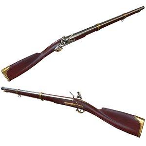 3D flintlock musket