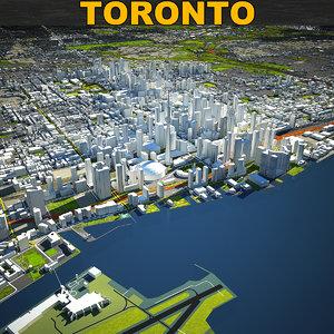 3D toronto skyline model