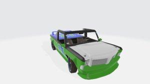 3D kodiak track car