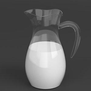 3D model milk carafe