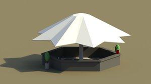 summer bar 3D model