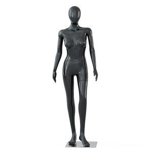 female black mannequin pose model