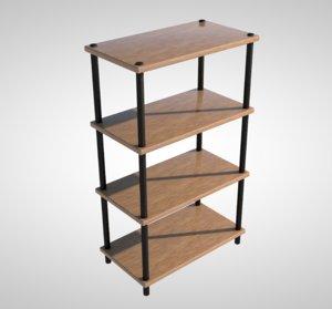 realistic shelf 3D model