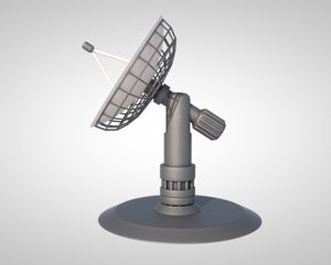 radio telescope satellite 3D model