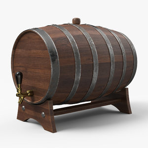 3D whiskey barrel model