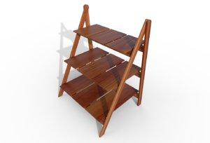 3D decorative small ladder shelf