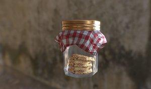 3D cookie jar model