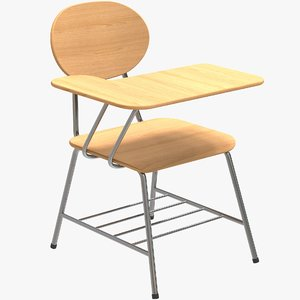 single school chair 3D