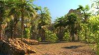 3D model oasis desert