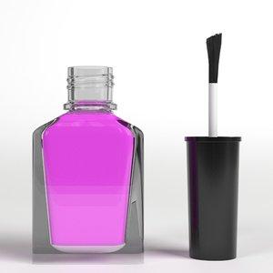 open nail polish 3D model