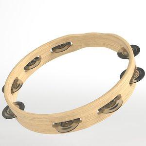 open tambourine 3D model