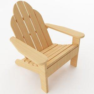 3D model adirondack chair