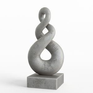modern decorative abstract stone 3D model