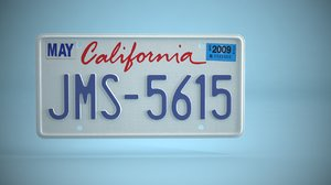 3D vehicle license plate package model