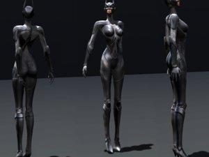 rigged batgirl batwoman catwoman 3D model