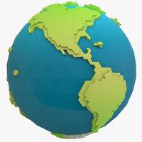 stylized earth model