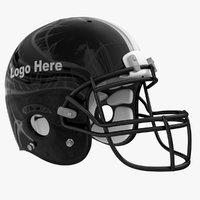 Black Football Helmet