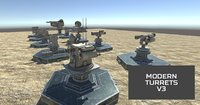 3D modern unmanned turrets
