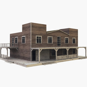 western west house 3D model