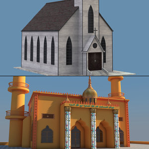 3D model church mosque