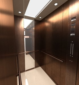 lift elevator industrial 3D model