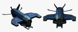 robot futuristic military model