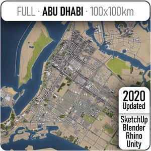 abu dhabi city - 3D model