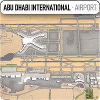 3D abu dhabi international airport