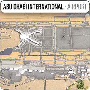 3D abu dhabi international airport
