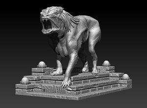 dog stl file fdm-fff 3D model